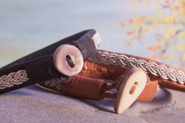 Pewter and Leather Bracelets