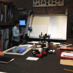 YAP field trips include our area framing gallery, where owner, Anja Brown, shares her skills and insights in the framing business.