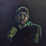 """Last Cigarette"" by Siri Steven. Decorah, IA. Oil Paint on Canvas. 20""x20"", 2014, NFS"
