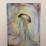 """""""Vibrant Jelly"""" by Matthew Andreas. Decorah, IA. Copper Etching and Watercolor. 15.5""""x 11"""", 2015, Sold"""