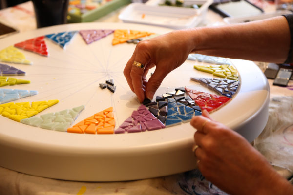 mosaic hands