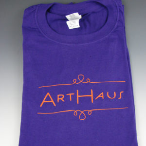 arthaus decorah purple orange ink shirt
