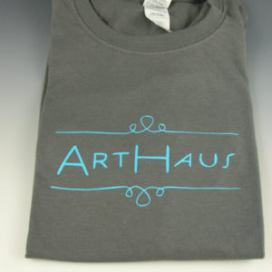 arthaus shirt grey with teal ink